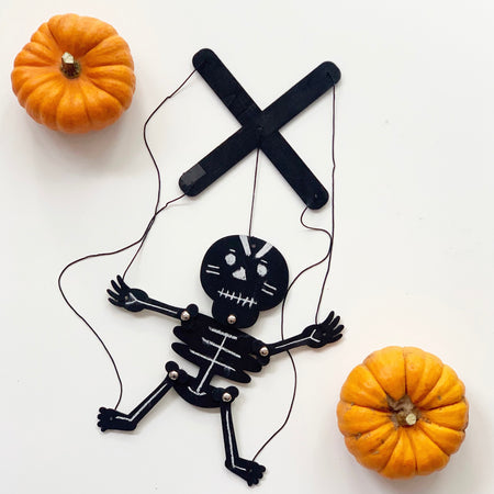 Virtual Halloween Workshop Kids Halloween Online Party Puppet and Slime Making