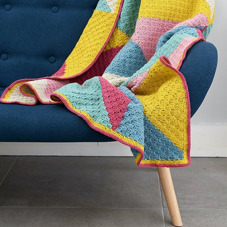 Learn Corner to Corner C2C Crochet Online with Tea and Crafting Zoom Craft Workshops