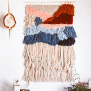 Learn Latch Hook and Locker Hook Wall Hanging ONLINE workshop with craft kit and live virtual streaming