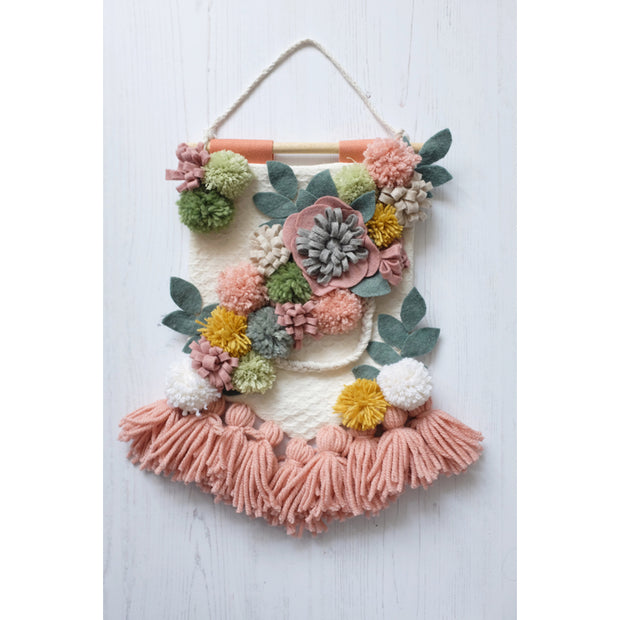 Boho Felt Flower Wall Hanging - As Seen in Mollie Makes