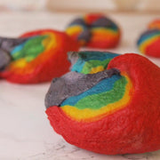 Make Rainbow Bagels at Tea and Crafting in London for kids and adults craft workshops