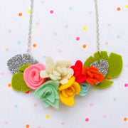 Felt Flower Necklace with Sewyeah!