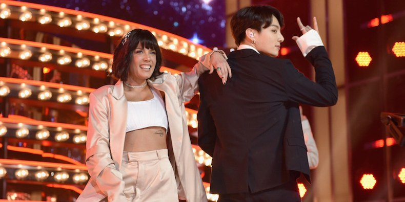 BTS and Halsey's Billboard Music Awards Performance of 'Boy With Luv'