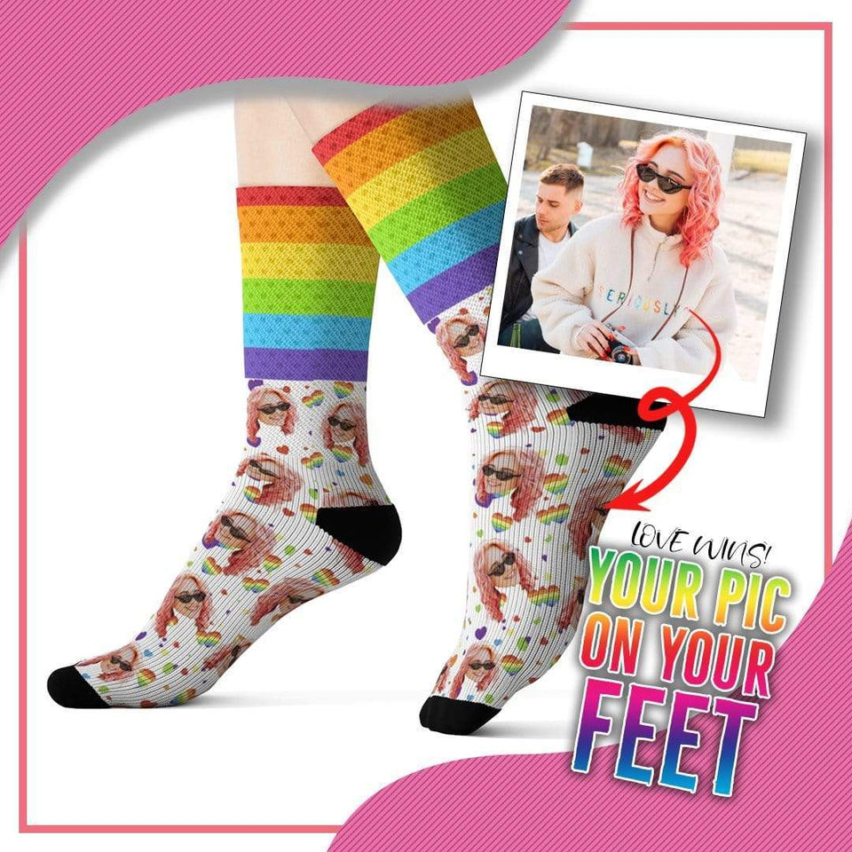 Customized Pride Socks with Picture Design 2