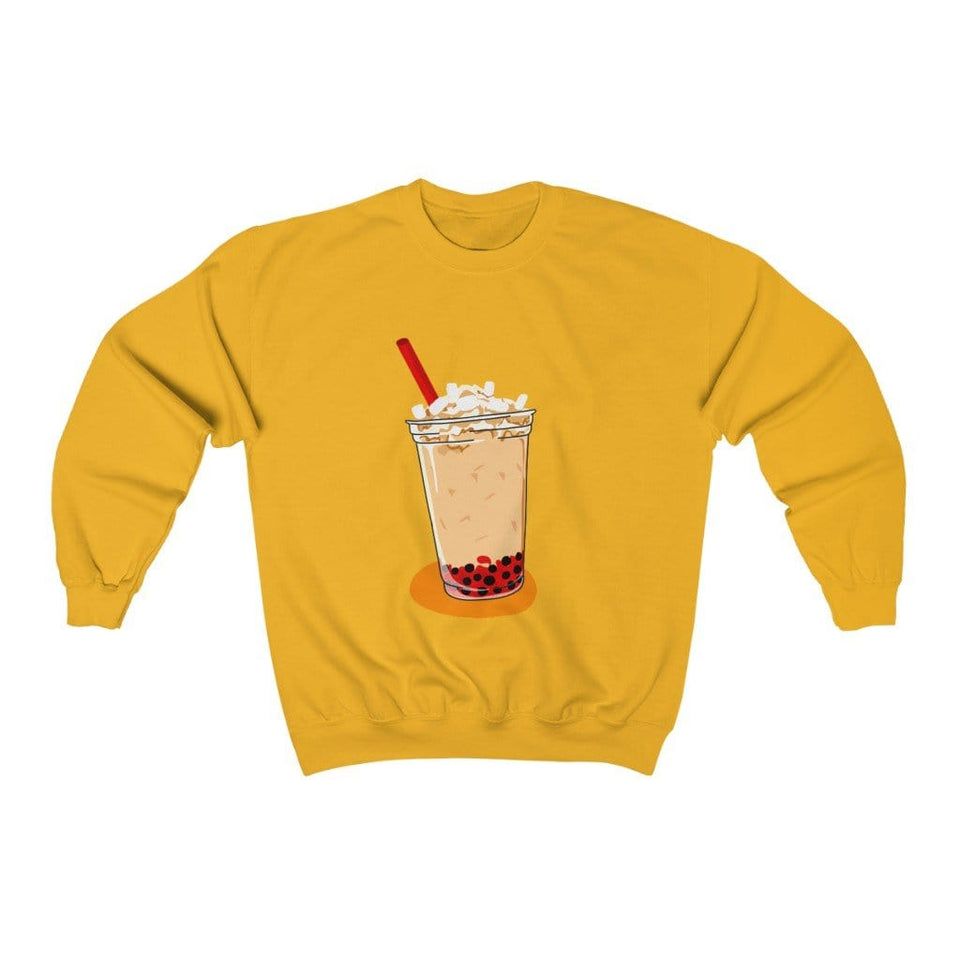 Cherry Bubble Tea with Ship Crewneck Sweatshirt