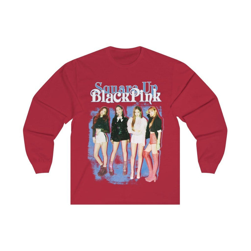 "Blackpink in Your Area Long Sleeve Shirt ""Square Up"" Blue"