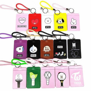 BLACKPINK GOT7 WANNA ONE EXO TWICE SEVENTEEN ID Card Lanyard