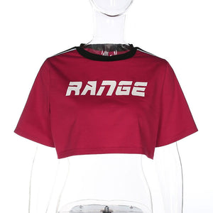 Casual Range Sports Style Crop Top