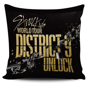 Stray Kids District 9 Unlock  World Tour Pillow Cover