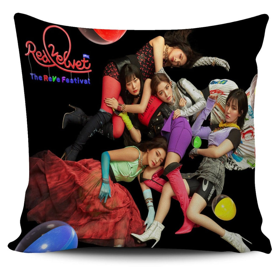Red Velvet Rave Festival Pillow Cover