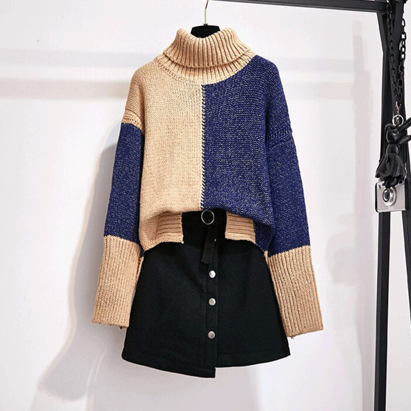 Demi Autumn Knitted Top + Short Skirt