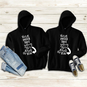 This is the proof that getting there is half the fun Couple Hoodie - Travel
