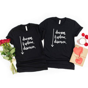 Dream, Explore, Discover Couple T-Shirt