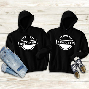 Let's Discover the World Together Couple Hoodies