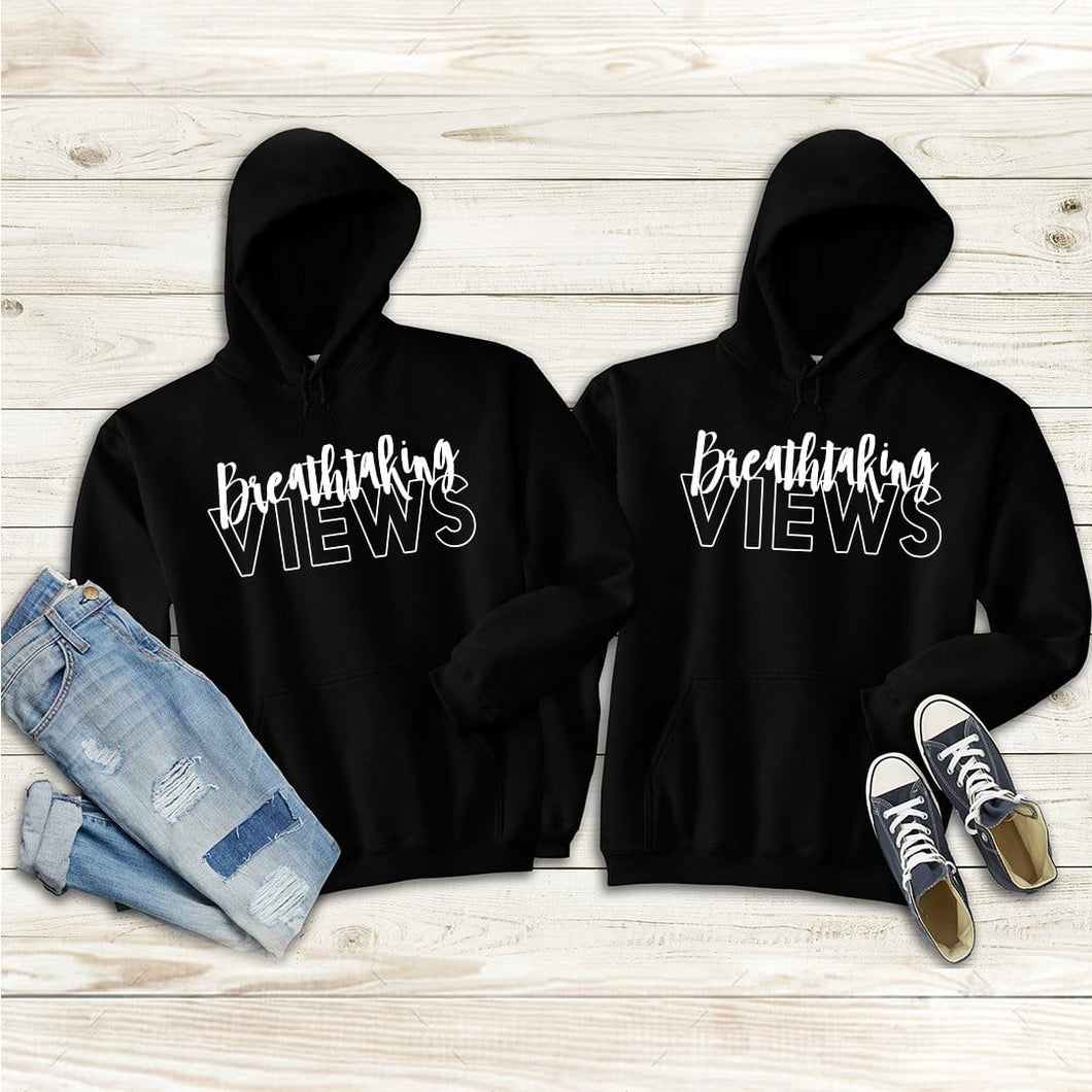 Breathtaking View Couple Hoodies