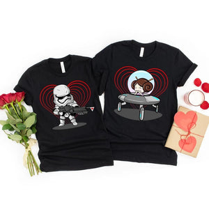 Star Wars and Lover Matching Couple T-shirt