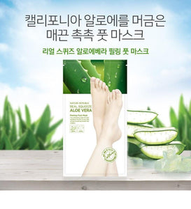NATURE REPUBLIC - Real Squeeze Aloe Vera Peeling Foot Mask 1pair