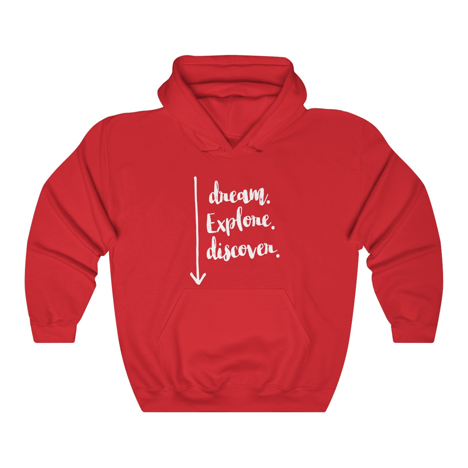 Dream, Explore, Discover Couple Hoodies