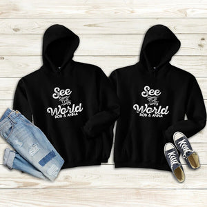 See The World Couple Hoodie