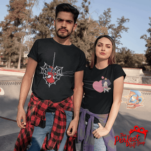 Spiderman and Lover Matching Couple T-shirt