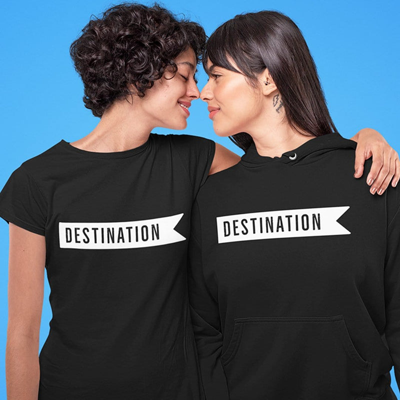 With You is My Favorite Destination Couple T-Shirt