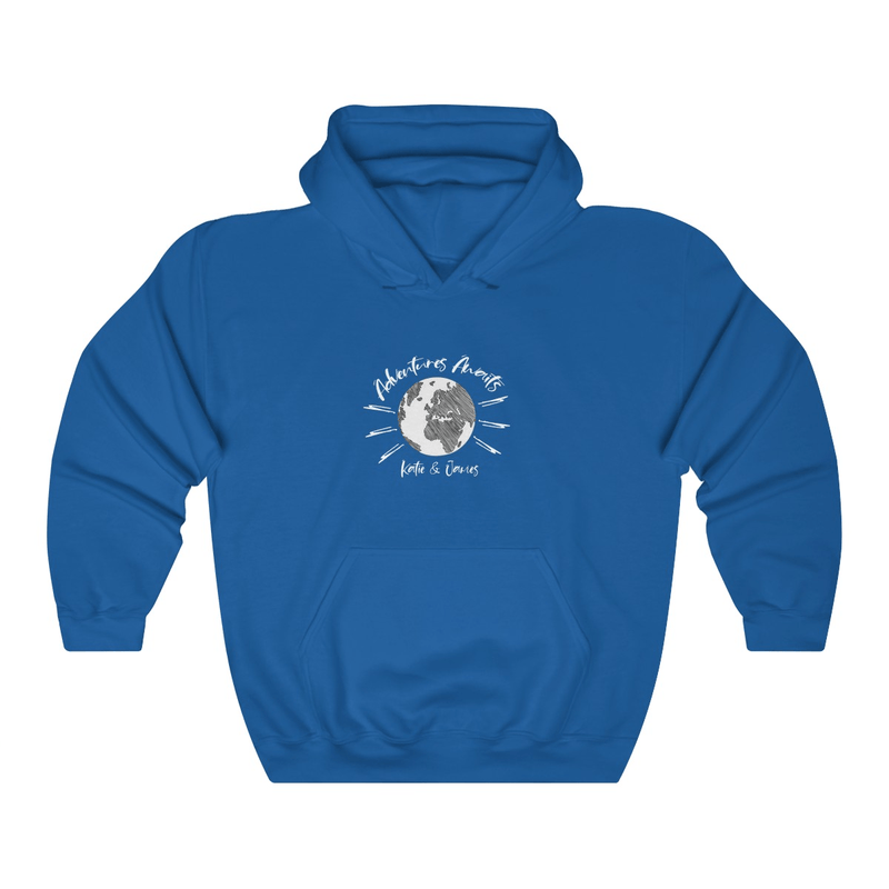 Adventures Awaits Couple Hoodie