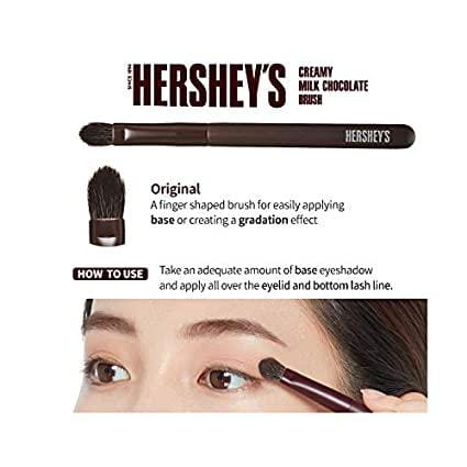 ETUDE HOUSE HERSHEY's Chocolate Brush Kit - Play Color Eyes Mini Eyeshadow Palette & Brush - Special Limited edition
