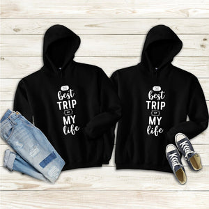 The Best Trip of My Life Couple Hoodies
