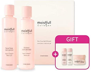 ETUDE HOUSE Moistfull Collagen Skin Care 2-Item Special Set Limited Edition | Facial Toner + Emulsion + Gift to provide hydration and...