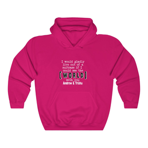 Live Out of The Suitcase With You Couple Hoodie