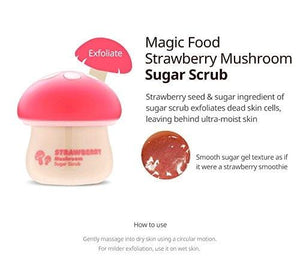TONYMOLY Magic Food Strawberry Mushroom Sugar Scrub, 2.37 Fl Oz