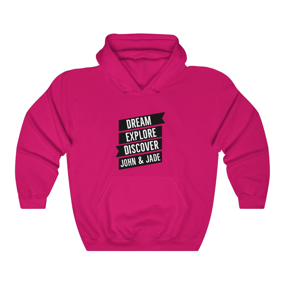 Dream, Explore, Discover Couple Hoodie