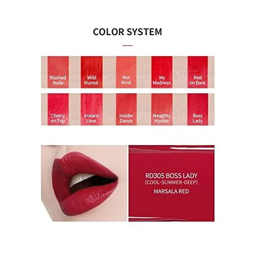 ETUDE HOUSE Colorful Tattoo Tint| Adorable Color Lipstick with a Long-Lasting Effect for a Perfect Hydrating Lip Makeup