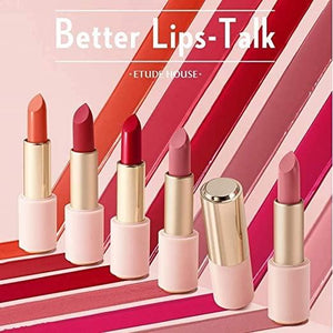 Etude House Better Lips-Talk (# BE101 Dancing China) | Vivid Color Long-Lasting Lipstick with Hydro Shine