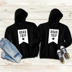 Road Trip Couple Hoodies