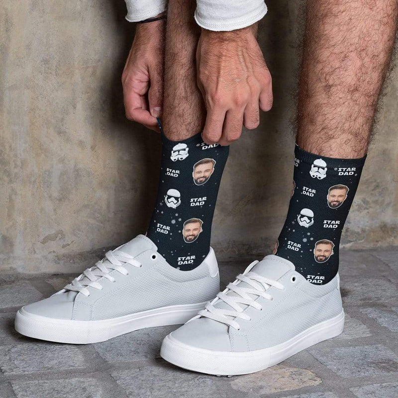 Star Dad Customized Sublimation Socks