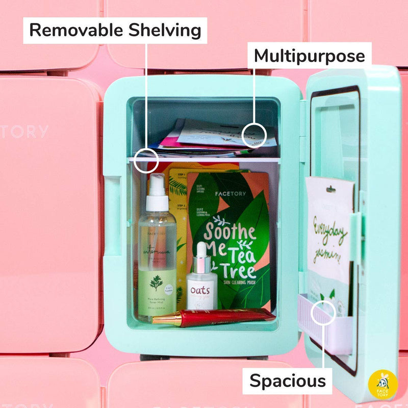 FaceTory Best of Seven Sheet Mask Collection and Mint Skincare Fridge 10-L