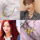 Blackpink Ceramic Smiley Necklace