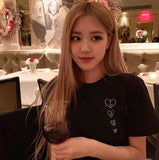 BLACKPINK Rose Small Heart Printed Tee