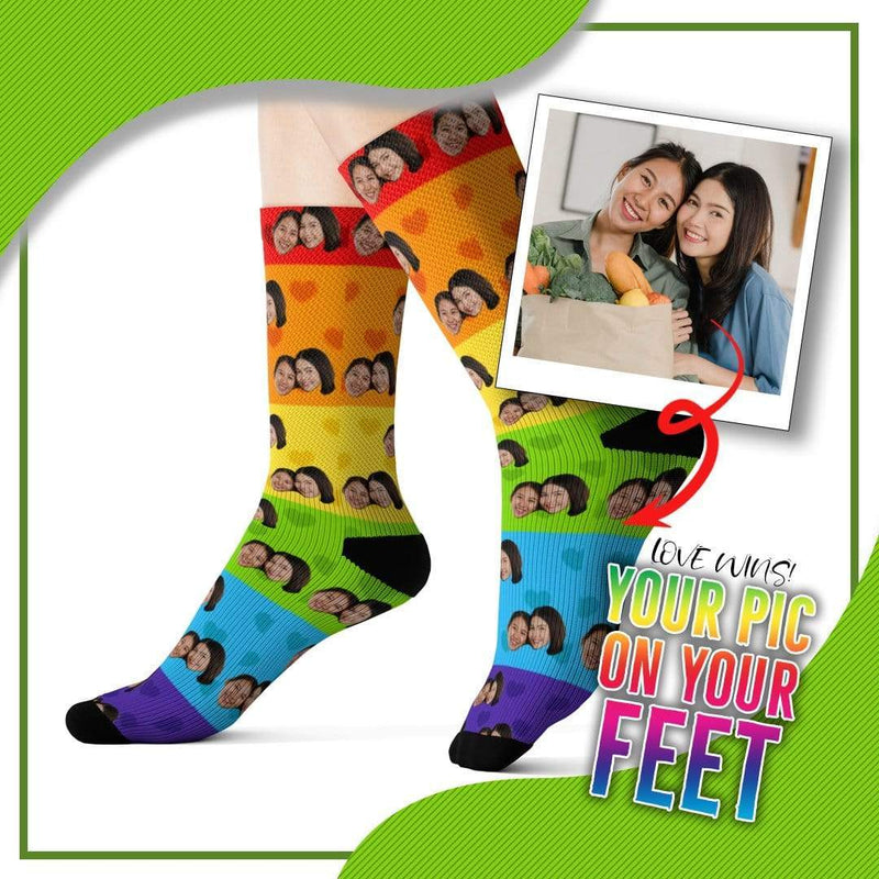 Customized Pride Socks With Picture Design 4