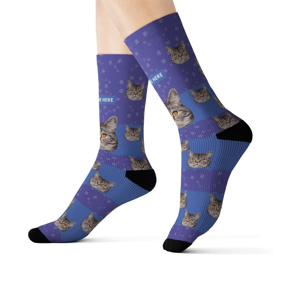 Custom Cat Socks with Name