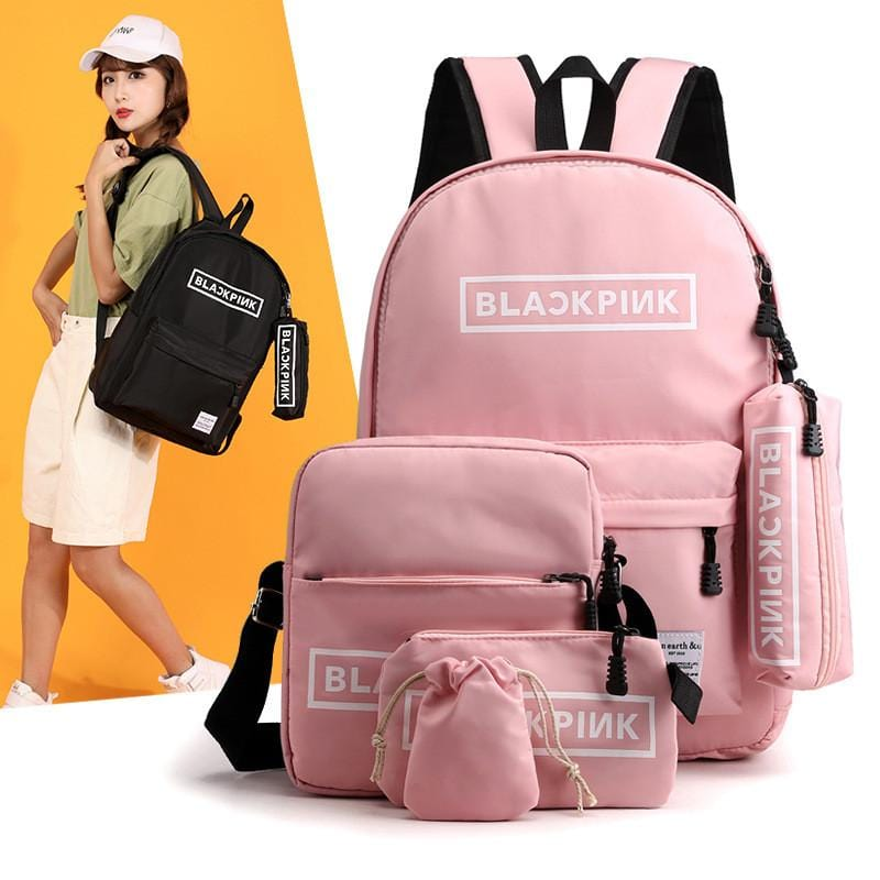 KPOP BLACKPINK Backpack 5PCS/Set