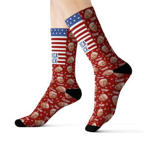 America Is Back Trump Socks - Red