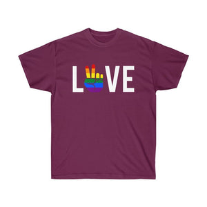 Love And Peace Couple Shirt - LGBT Pride T-Shirt