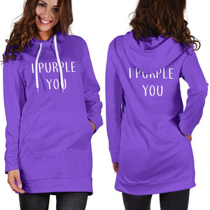 I PURPLE YOU Hoodie Dress