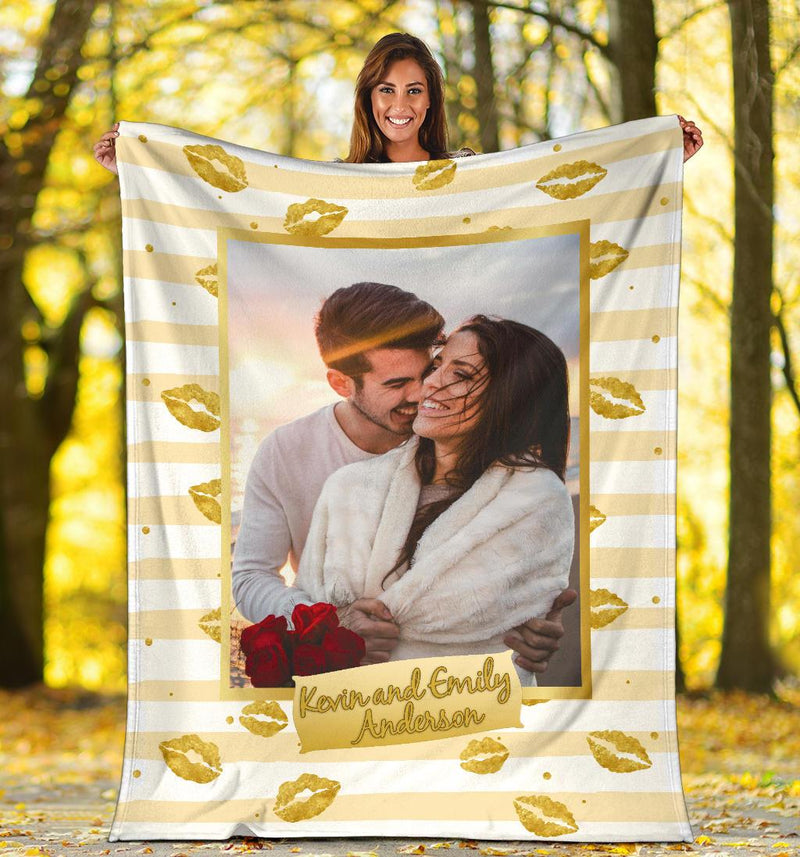 Kiss Custom Photo Blanket