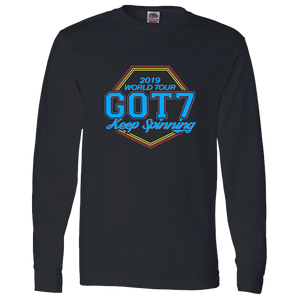 "Got7 2019 World Tour ""Keep Spinning"" Long Sleeve Tee - Version 3"