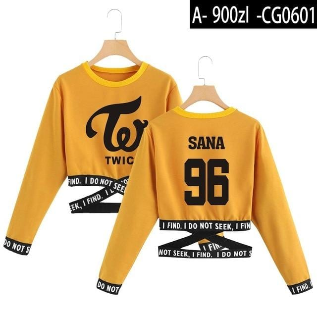 TWICE What Is Love Crop Top Sweatshirt