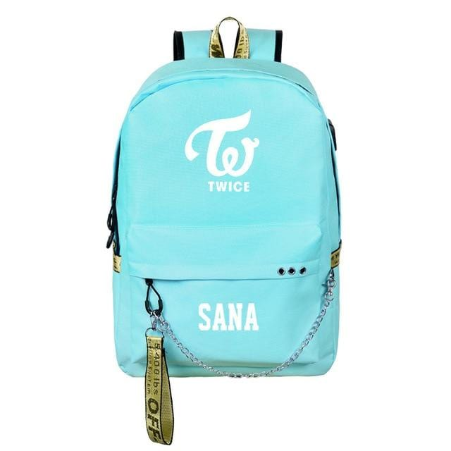 TWICE Logo Name USB Backpack