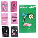 GOT7 EXO BLACKPINK WANNA ONE SEVENTEEN TWICE IZONE Cute Badge Pin 3pc Set